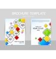 colorful squares flyer template vector image