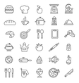 cooking icons symbols vector image