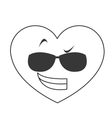 cool sunglasses heart cartoon icon vector image vector image
