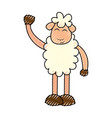 cute sheep drawing character vector image vector image