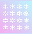 cute snowflakes collection isolated on pink vector image vector image