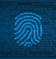 cyber technology security finger print id on vector image vector image