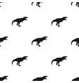 dinosaur tyrannosaurus icon in black style vector image vector image