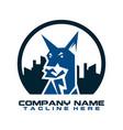 dog logo dog head icon cartoon dog logo dog vector image vector image