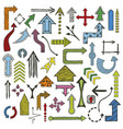 doodle arrows collection vector image vector image