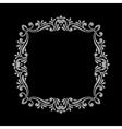 Elegant luxury vintage silver floral frame vector image vector image