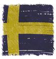 Flag of Sweden handmade square shape vector image vector image