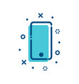 flat outline smartphone icon vector image vector image