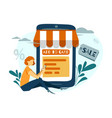 flat style online shopping vector image vector image