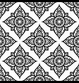 floral seamless pattern inspired by thai art vector image vector image