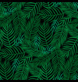 floral seamless pattern tropical leaves fashion vector image vector image