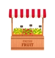 Fruit stand vector image vector image