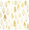 gold foil metallic christmas trees on white vector image vector image