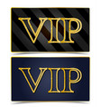 golden vip party premium card vector image vector image