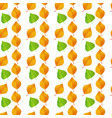 green orange autumn leaves white background vector image vector image
