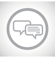 Grey chatting sign icon vector image vector image