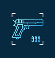 gun concept colored icon in outline style vector image vector image