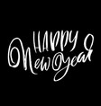 happy new year holiday modern dry brush ink vector image vector image