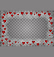 happy valentines day of love hearts on abstract vector image