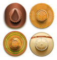 Hats Set vector image vector image