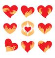 Heart hand symbols vector image