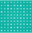hi-tech 100 icons universal set for web and ui vector image vector image