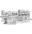 how to find the best airfare deals in the market vector image vector image