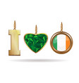 i love ireland patriotic jewelry vector image