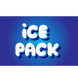ice pack text 3d blue white concept design logo vector image vector image
