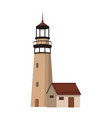 lighthouse navigation building vector image