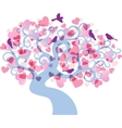 love tree background vector image vector image