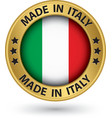 Made in Italy gold label vector image vector image
