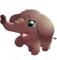 mammoth on white background vector image vector image