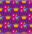 mardi gras festival mask and crow wrapping paper vector image vector image