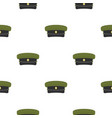 military hat pattern flat vector image vector image