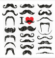 moustaches set design elements hand drawn vector image