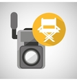 movie video camera director chair vector image vector image