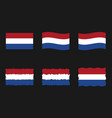 netherlands flag holland flag images set vector image vector image
