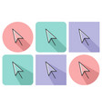 outlined icon of pointer arrow with parallel and vector image vector image