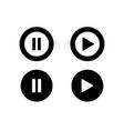 pause icon button symbol vector image vector image