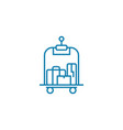 porter services linear icon concept porte vector image vector image