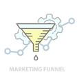 principles marketing funnel - test of vector image