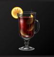 realistic cocktail long island ice tea glass vector image
