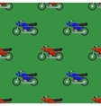 Red Blue Sport Bike Seamless Pattern vector image vector image
