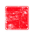 red square grunge stamp with blank siolated on vector image vector image