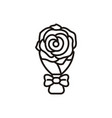 rose flower logo vector image