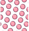 seamless background cream cakes vector image vector image