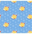 seamless sea pattern with smiling yellow vector image vector image
