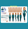 set businesswoman character design vector image