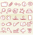 set database icons in chalk style vector image